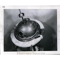 1961 Press Photo Instrumented Sphere Part of 250 Pound Payload Studies Hydrogen