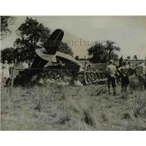 1940 Press Photo Plane Wreck of Mr & Mrs Charles Neyhart near State College