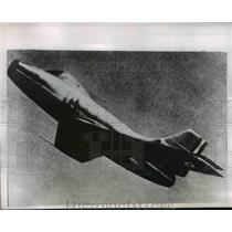 "1952 Press Photo New French MD-452 Jet Fighter Reported as Very ""Hot"" Ship"