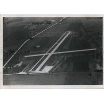 1963 Press Photo Dodge County airport runways in Juneau, Wisconsin