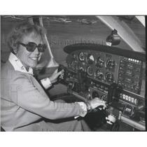1977 Press Photo Mrs. Louise Prugh, women pilot at the Powder Puff Derby