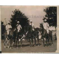 1924 Press Photo Members of America's International Polo Championship team