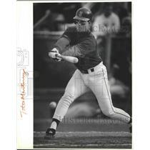1992 Press Photo Seattle Mariners baseball player, Tino Martinez - sps09687