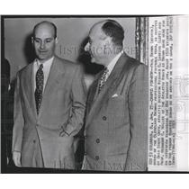 1951 Press Photo Browns football coach, Paul Brown with Prof. Hermann C. Miller