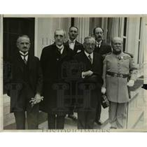 1929 Press Photo French Delegation From Society of Cincinnati Attend Convention