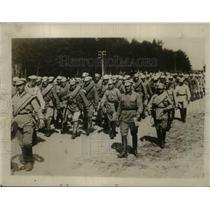 1928 Press Photo Russian Troops March Outside Moscow - nem40553
