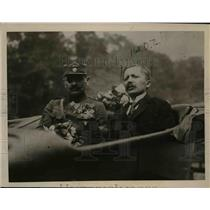 1920 Press Photo General Sirony of Czech Forces Acclaimed on His Prague Return
