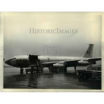 1957 Press Photo Stratotanker Speckled Trout shown at Boeing Field Seattle WA