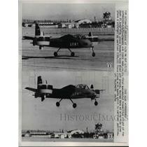 1959 Press Photo Successful Transition Flight of Doak 16 Army VTOL Plane