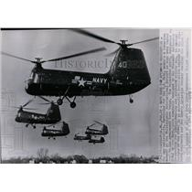 1952 Press Photo Six new helicopters, developed for the U.S. Navy.  - spw11334