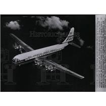1955 Press Photo A four-engine stratocruiser of the type of Pan American Airways