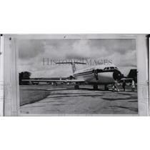 1963 Press Photo Britain's new One-Eleven jet airliner, crashes, killing seven