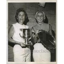 1968 Press Photo Mrs. Robert Ball & Mrs. Frank Cefalu Win Audubon Golf Tourney