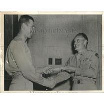 Press Photo Gen Hume Peabody Commanding Gen of Eastern Flying Training Command