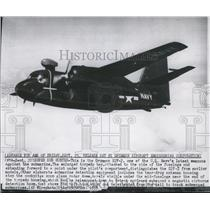 1955 Press Photo Grumman S2F-2, US Navy's latest weapons against the submarine