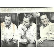 1971 Press Photo Miami Dolphins football coach, Don Shula, shows his many moods