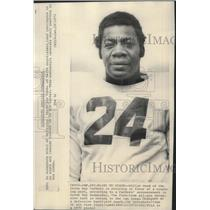 1970 Press Photo Green Bay Packers football player, Willie Wood, plans to coach