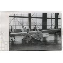 1957 Press Photo Goodyear Rubber Airplane at Naval Air Station in Olathe, Kansas