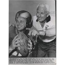 1958 Press Photo Eagles football's Norm Van Brocklin & Coach Buck Shaw