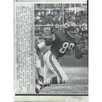 1966 Press Photo Kansas City Chiefs football player, Otis Taylor, in action