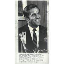 1969 Press Photo Dallas Cowboys quarterback Don Meredith announces his retirment