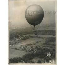 1959 Press Photo Balloon Club of America high above Pennsylvania countryside