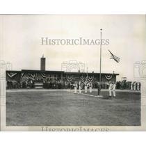 1951 Press Photo Dedicating new administration building at Maitland Airport