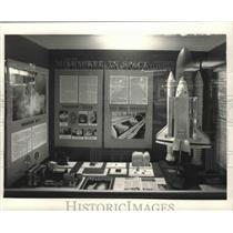 "1992 Press Photo ""Milwaukee in Space Exhibit"" at the Mitchell Gallery of Flight"