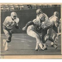 1971 Press Photo San Francisco 49ers John Brodie & football Players Practice