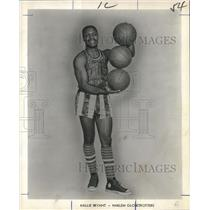 1969 Press Photo Harlem Globetrotters - Hallie Bryant, Basketball Player