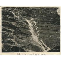 1930 Press Photo Striking scene of the Mojave Desert taken from Army Plane