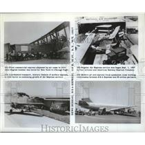 1964 Press Photo Air Express service planes working with the R E A Express in NY