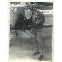 1930 Press Photo Frank Goldsborough in LA form NY for cross country flight