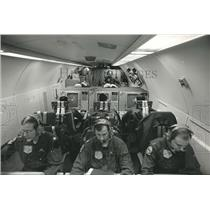 1986 Press Photo Airborne early warning and control system (AWACS) in operation