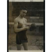 1919 Press Photo Johnny Babe Asher of Detroit bantamweight boxer - nes54400