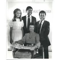 1982 Press Photo Students & Teacher , Winners-France Worldwide Art Contest