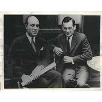 "1929 Press Photo Bob Gast and Parker Cramer, Co-Pilots of the ""Untin"" Bowler, NY"