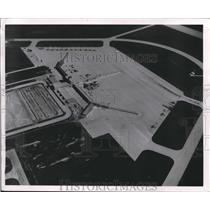 1955 Press Photo Aerial View of Milwaukee County Field, Milwaukee, Wisconsin