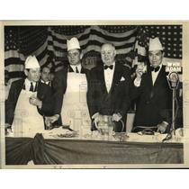 1937 Press Photo Memorial Dinner for Late Joe Humphries at Madison Square Garden