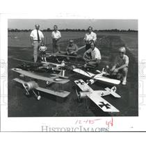 1985 Press Photo Gathering of members of the Model Airplane sport Prop-Nut Club
