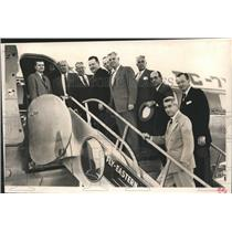 1957 Press Photo Delegation of Houston civic leaders going to Washington D.C.