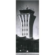 1963 Press Photo Operations Tower at Austin, Texas' new Robert Mueller Airport