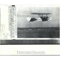 1969 Press Photo Blue Stoose airplane flies, defying all rules of aviation