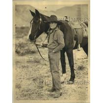 1932 Press Photo Leonard Woods, Police Commissioner's son  in a cowboy outfit
