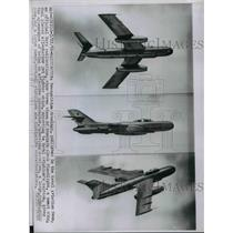 1956 Press Photo Drawings of Russian Flashlight Plane