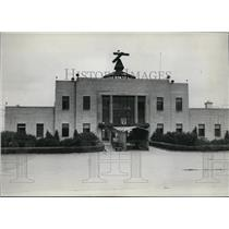 1934 Press Photo View of the administration building at Cleveland Airport.