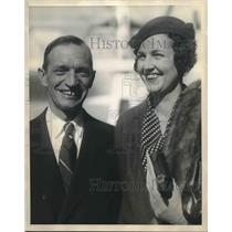1931 Press Photo Mr and Mrs. Charles H.Day on World Tour Honeymoon - sba09598