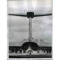 1956 Press Photo British Gloster Javelin Plane Rear View - nem47608