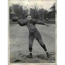 1935 Press Photo Steve Sabath , Quarterback at East High School football