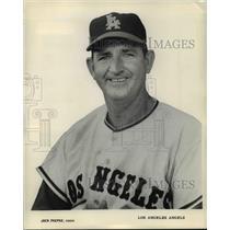 1965 Press Photo Jack Paepke, Los Angeles Angels Coach - cvb39460